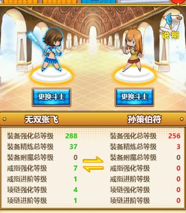 《暴走萌姬》斗士互换玩法攻略