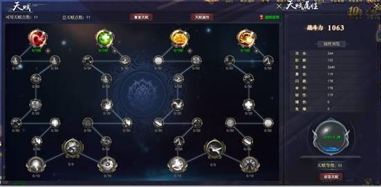 《武林三》天赋系统介绍